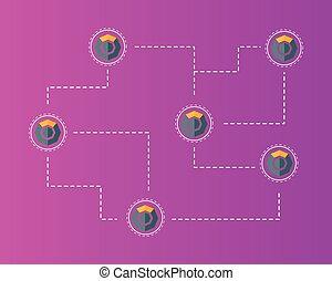 シンボル, 概念, blockchain, 背景, komodo