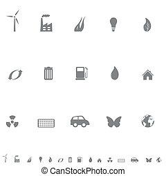 シンボル, 環境, セット, アイコン