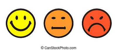 シンボル, 白, smiley, 隔離された, 黄色
