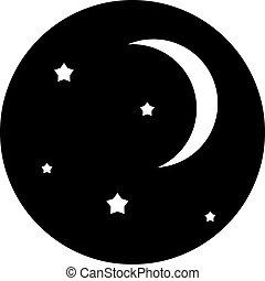 シンボル, 空, 夜