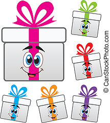 シンボル, 箱, 贈り物, ベクトル