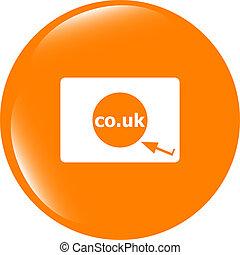 シンボル, 範囲, icon., co.uk, 印, イギリス, subdomain, インターネット