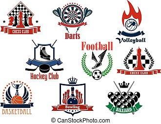 シンボル, 紋章, スポーツ, ゲーム, アイコン