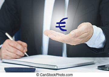 シンボル, 経済学, 金融, ビジネス男