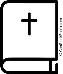 シンボル, 聖書, vector., アイコン, 隔離された, イラスト, 輪郭