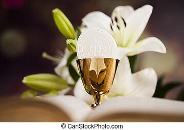 シンボル, 聖杯, bread, 聖餐, eucharist, ワイン, 背景, ホスト, 最初に