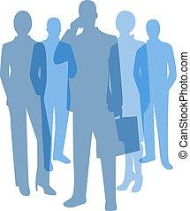 シンボル, 透明, ビジネス 人々