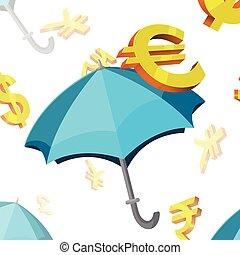 シンボル, 通貨, 傘, 金融