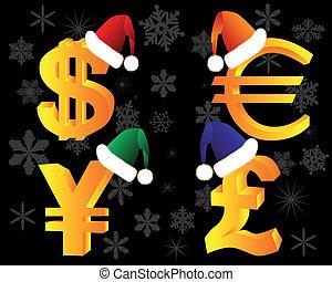 シンボル, 通貨, 帽子, 冬