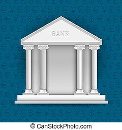 シンボル, 通貨, 銀行, 背景