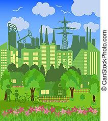シンボル, 都市, 環境的に, リチウム