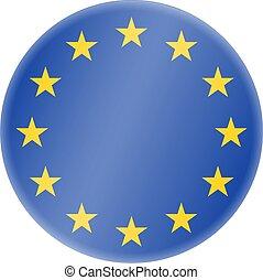 シンボル, 金, 組合, ヨーロッパ, ラウンド, 青