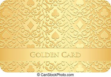シンボル, 金, 装飾, カード