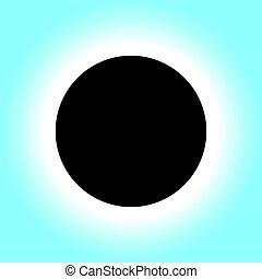 シンボル, 食, 太陽, アイコン