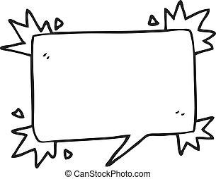 シンボル, 黒, スピーチ, 白, 泡, 漫画