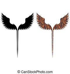 シンボル, 黒, 翼