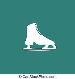 シンボル, icon., フィギュアスケートする