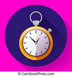 シンボル, race., time., ベクトル, イラスト, ストップウォッチ, アイコン