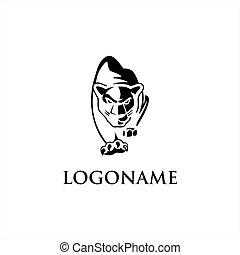 シンボル, tiger, ベクトル, ロゴ, アイコン