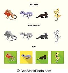 シンボル, web., コレクション, 環境, 尾, ベクトル, デザイン, 動物群, logo., 株