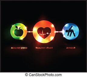 シンボル, wellness, 抽象的