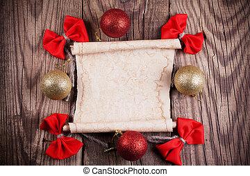 シート, 木製である, 装飾, ペーパー, 背景, クリスマス