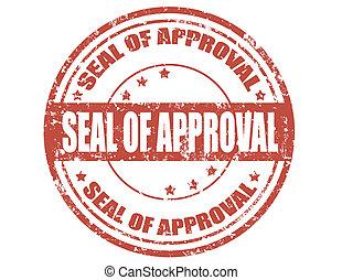 シール, の, approval-stamp