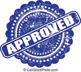 シール, の, approval(quality, check), グランジ, ベクトル, 白, バックグラウンド。,...