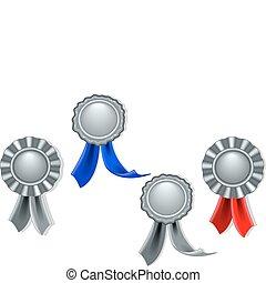 シール, 銀, メダル, ブランク