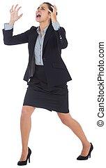 ジェスチャーで表現する, 怒る, 女性実業家