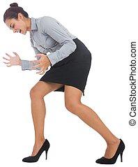 ジェスチャーで表現する, 激怒している, 女性実業家