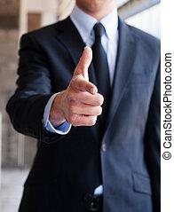 ジェスチャー, 人間が指さす, ビジネス, 手