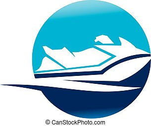 ジェット機の スキー, モーター ボート