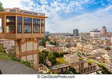 ジェノア, italy., castelletto, エレベーター