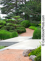 ジグザグ, 橋, 日本の庭, 先導
