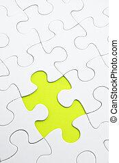 ジグソーパズル, ∥で∥, 緑, 小片, ミスされた