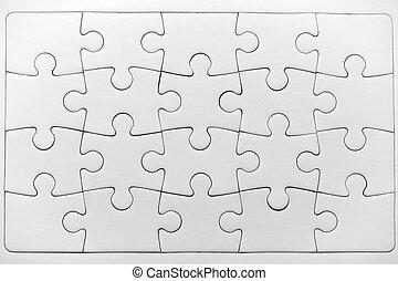 ジグソーパズル, パターン, 困惑, 隔離された, 白