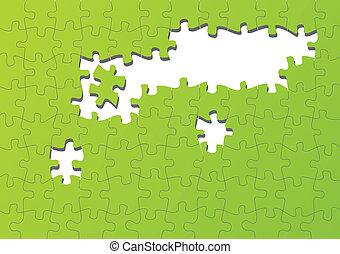 ジグソーパズル, ベクトル, カラフルである, 背景