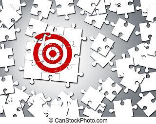 ジグソーパズル, 概念, ターゲット, ビジネス