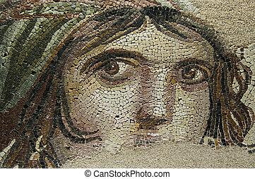 ジプシー, 女の子, 古代, mosai, (gaia)