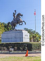 ジャクソン, 記念碑, 中に, フランス 四分の一, ニユー・オーリンズ, ルイジアナ