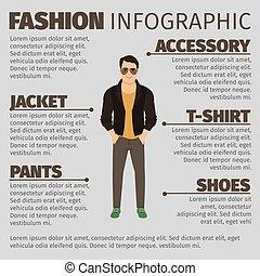 ジャケット, ファッション, 人, infographic