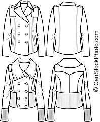 ジャケット, 羊毛, 女性