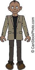 ジャケット, 面白い, 砂, 人