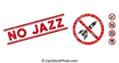 ジャズ, 傷付けられる, モザイク, いいえ, 切手, ロケット, ライン