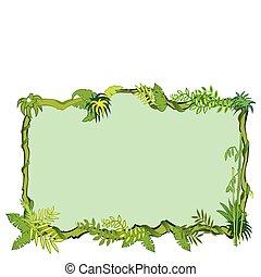 ジャングル, フレーム, 概念, 中に, ベクトル