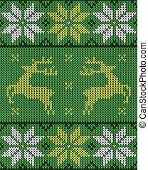ジャンパー, パターンデザイン, クリスマス