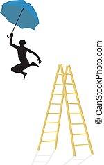 ジャンプ, はしご