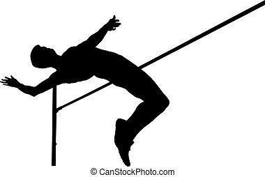 ジャンプ, 運動選手, 高く