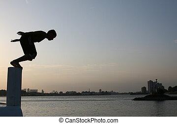 ジャンプ, 飛び込み